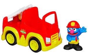 Grover's fire truck hasbro 2