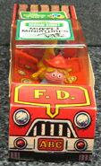 Child guidance muppet miniatures sesame pvc fire truck 1