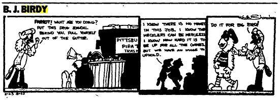 B J Birdy comic reference to Big Bird