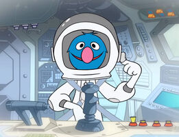 Grover astronaut animated