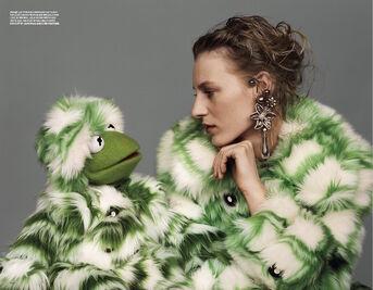 Love magazine Kermit and Julia