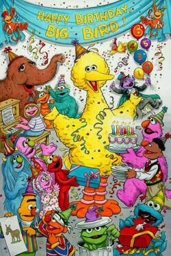 Joe Mathieu Big Bird birthday SSmag March 1996.jpg
