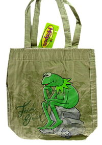 2009 disney store global design kermit tote bag