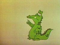 Gator pointing