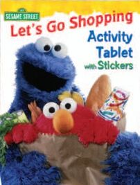 Lets Go Shopping Activity Tablet with Stickers