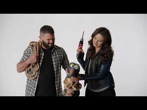 Katie Lowes and Guillermo Diaz