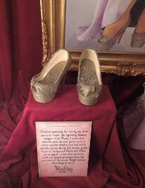 Christian shoes on display