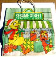 Sesame street general store christmas shopping bag gg