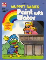 Golden muppet babies paint with water