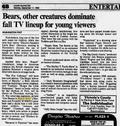Animal Show season two Sept 11 1995