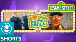 Sesame Street Ernie Plays What's That Snack 3
