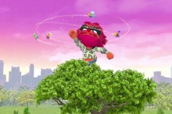 Animal Kong swatting fliers