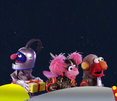 Astronauts Waze Space Car