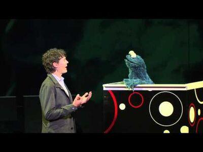 Scott Jurek and Cookie Monster at TEDMED 2012