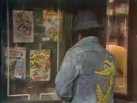 0756 comics and Big Bird jacket