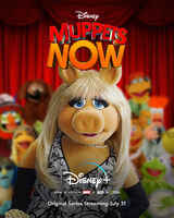 Muppets Now poster Piggy portrait