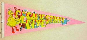 1980 sesame street live pennant