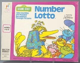 Milton bradley 1975 number lotto 1