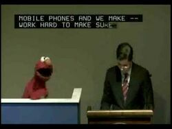 Elmo Wants Internet To Be Fast, Fast, Fast