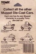 Tomy muppet die-cast cars package