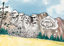 Muppets on the Road Mount Rushmore