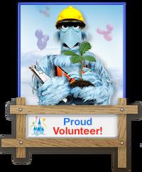 Sam Eagle Volunteer Badge