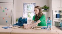 Cookie Monster Sutton Foster Lactaid
