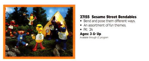Playskool 1995 catalog bendable pvc camp sesame