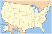 Map of USA DE