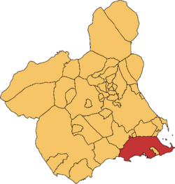 Cartagena en la Rigión e Murcia