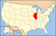 Map of USA IL