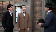 1401 Charlie Chaplin (Matthew Finlan) Stanley Laurel (Ryan Tapley) with Murdoch