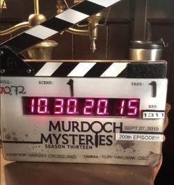 Murdoch Mysteries 200th clapper.png