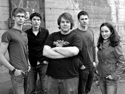 offizielles Bandfoto (von links: Dominik, Sebastian, Markus, Christoph, Rebecca)