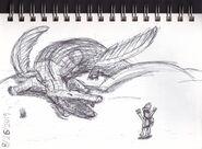 Sobek Ra Sketch