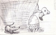 The Easter Egg Button Thumbnail Sketch