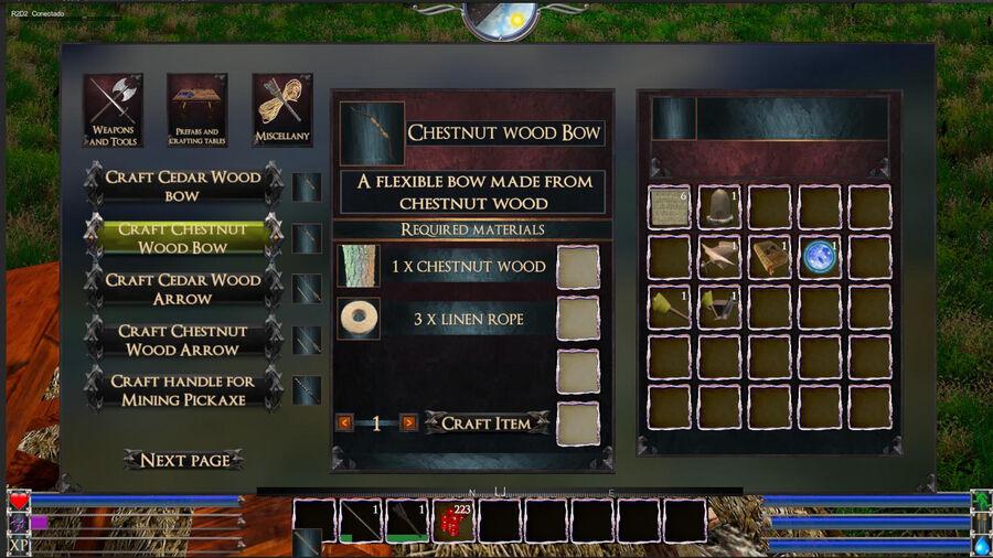 Chestnut Wood Bow