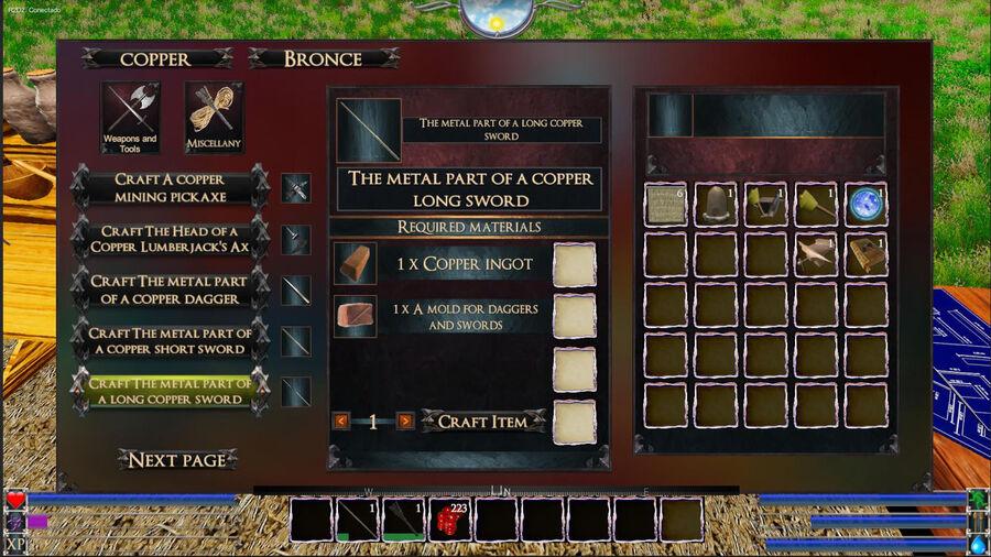 The Metal Part Of A Copper Sword