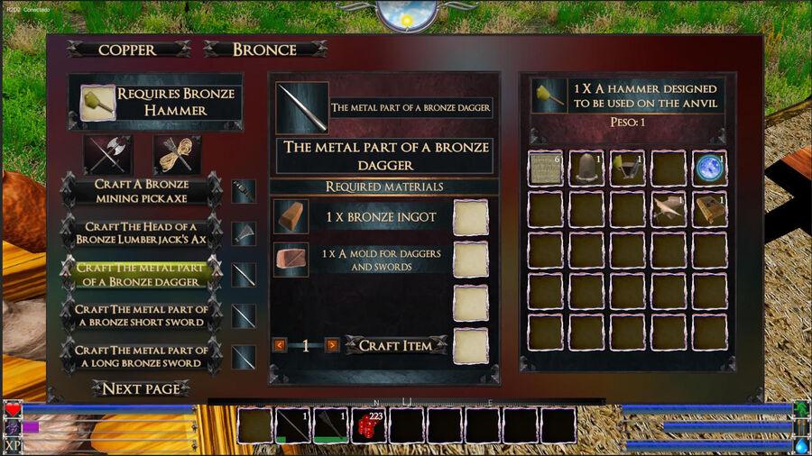 The Metal Part Of A Bronze Dagger