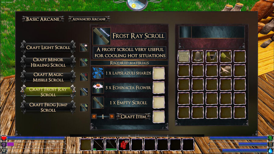 Frost Ray Scroll