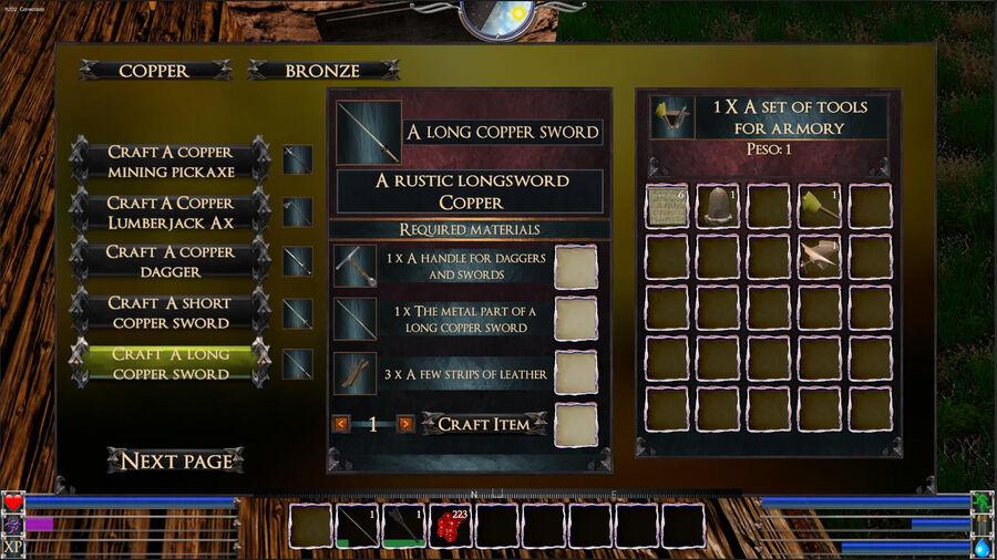 A Long Copper Sword