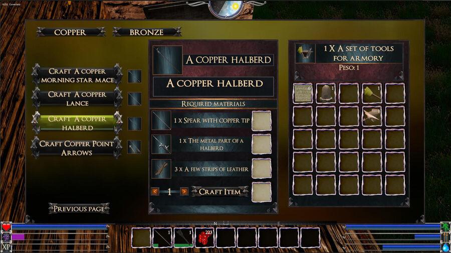 A Copper Halberd