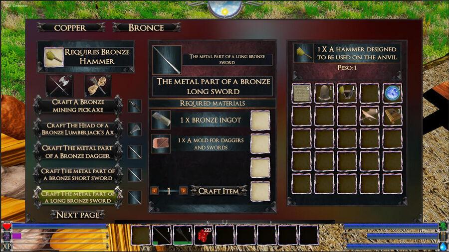 The Metal Part Of A Bronze Sword