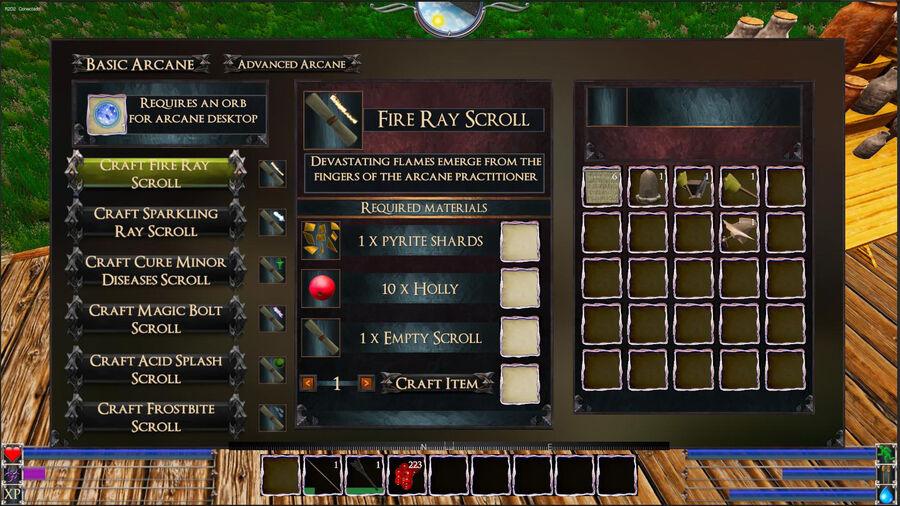 Fire Ray Scroll