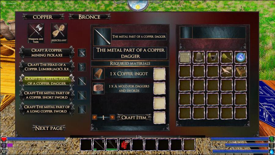 The Metal Part Of A Copper Dagger