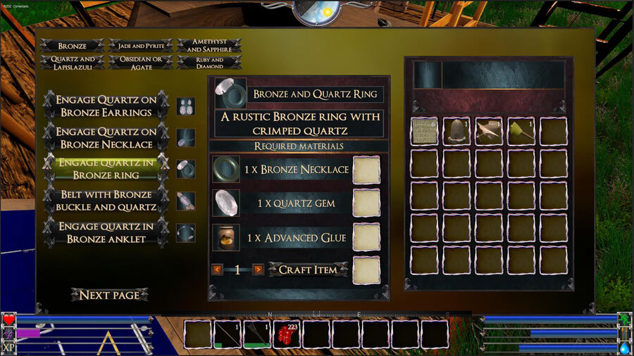 Engage Quartz In Bronze Rig