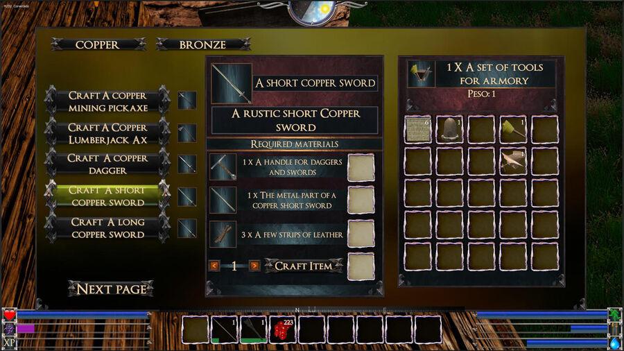 A Short Copper Sword