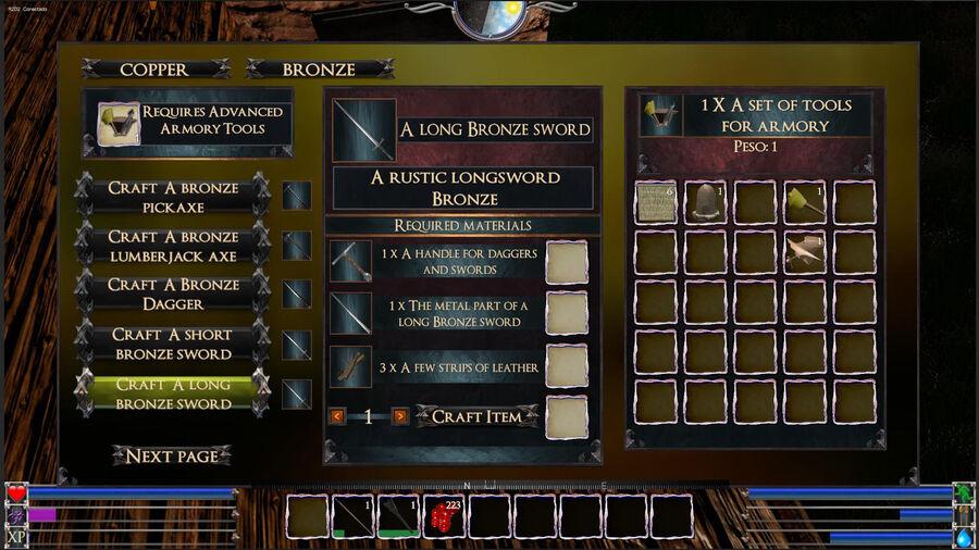 A Long Bronze Sword