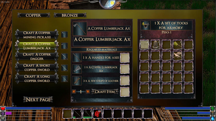 A Copper Lumberjack Ax