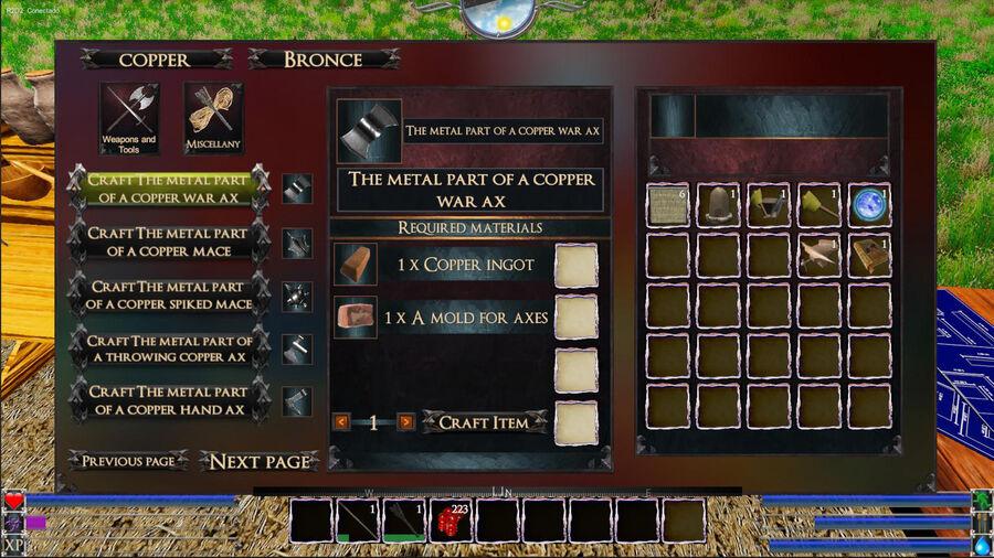 The Metal Part Of A Copper War AX
